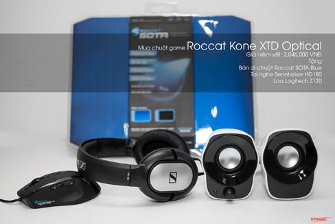 Chuot Roccat Kone XTD khuyen mai cuc hot